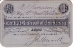 Railroad Pass - Central Railroad of New Jersey
