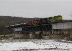NS 1072 Leading K010 Across the Mohawk River
