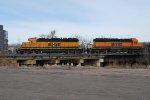 BNSF 1600 & BNSF 1601 Working The Denver BNSF Yard