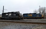 CSX and NS Geeps in Morrisville