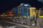 CSX SD50-2 8576 trails on Q409-03