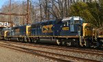 CSX GP40-2 6972 trails on Q439-22
