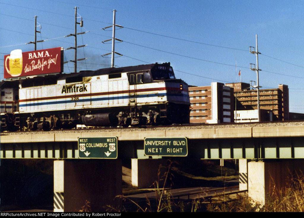 Amtrak Crescent 328 F40PHR