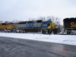 CSX 8206 runs cab forward EB