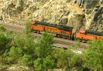 BNSF 7240 westbound in the Mojave Narrows