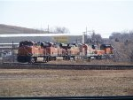 BNSF ES44DC 7455, BNSF ES44C4 6657, BNSF C44-9W 5369, BNSF B40-8 8630, BNSF YRD SLUG 270 & BNSF SD40-2 1888