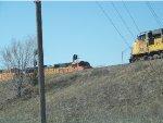 BNSF C44-9W 5444 & UP SD70M 4153