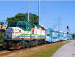 TRCX 802 Florida Tri-Rail Pushing Train P614