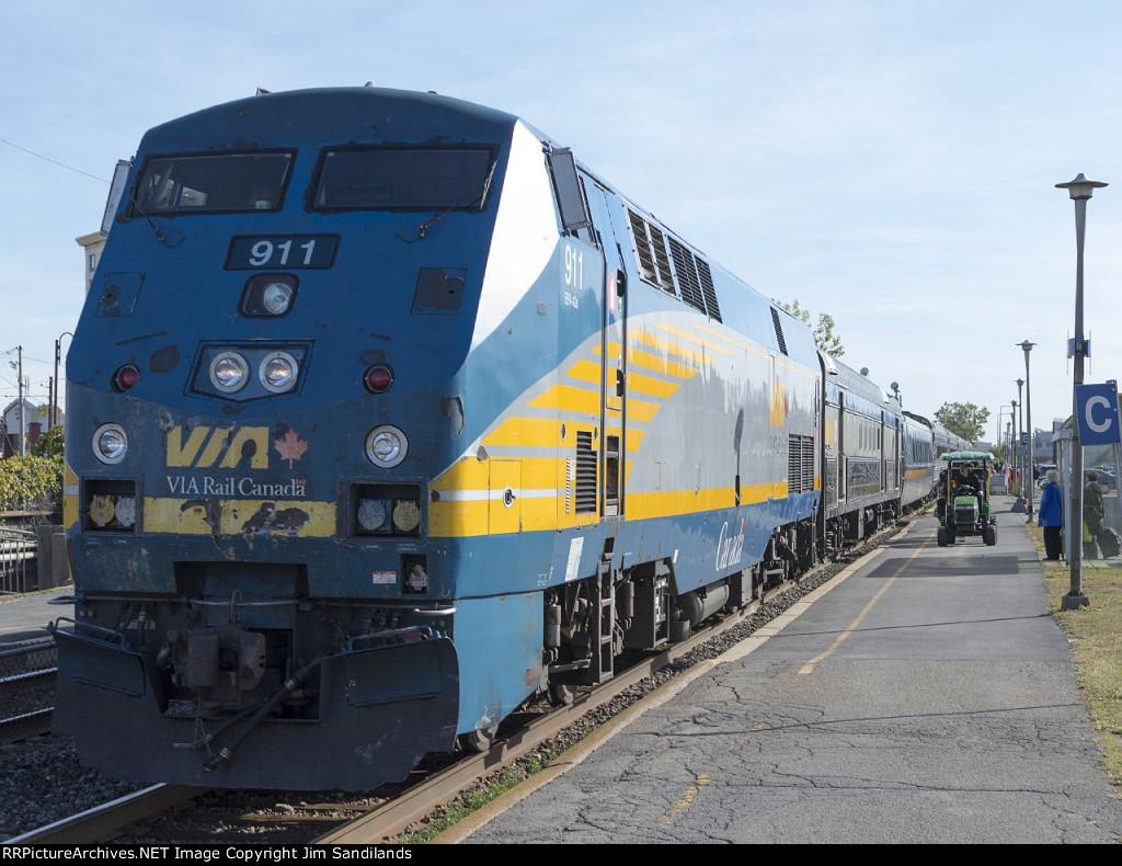 VIA 911 on train 63