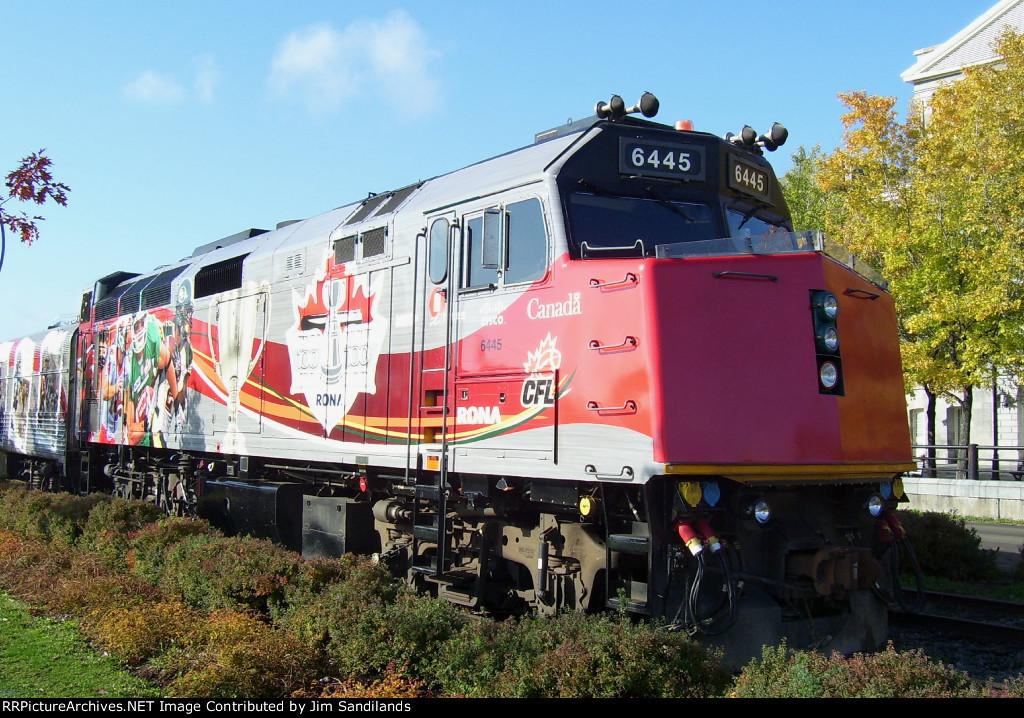 VIA 6445 on Canadian Football League Grey Cup Train