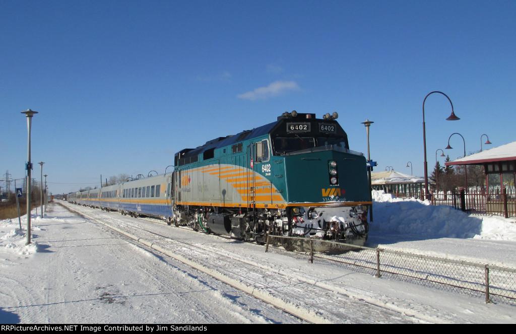 Via 6402 on Train 52. Via 909 is on the rear