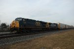 CSX 5380 takes autoracks west.
