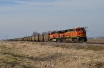 BNSF southbound coal train on the Hannibal Subdivision