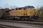 Westbound Union Pacific empty hoppers DPU