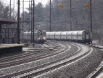 An NJT Arrow 3 set pulls into the station