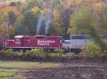 Canadian Pacific GP9U 8244 Works hard.