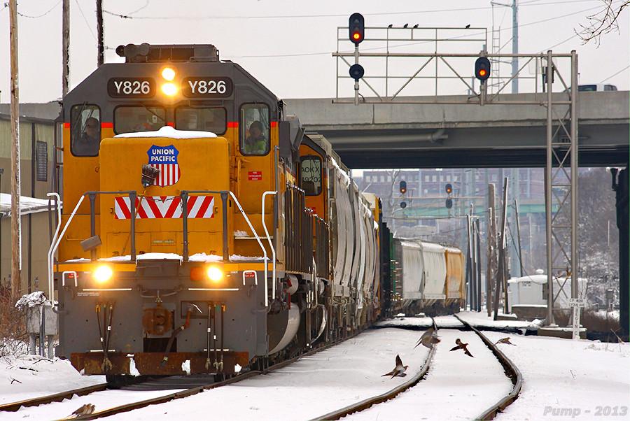 Eastbound UP Yard Job Train
