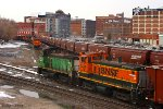 BNSF Trains Pass