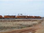 BNSF ES44C4s 7105, 7103, 7101 & 7104