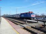 METX 185 backs in to Belmont Station