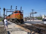 BNSF 4778 leads a stack train