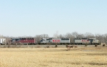 KCS 6614  722 and HLCX 6092