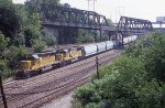 Classic UP power pulling the EB freight