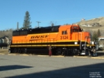 BNSF 3124 GP50 broadside new paint
