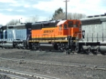 BNSF 3124 GP50 helping with building a load