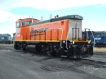 BNSF 3704 MP15 about ready to leave town