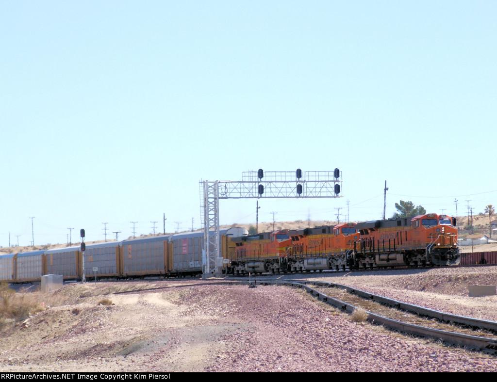 BNSF 7881 with WB Autorack