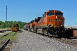 BNSF 793 Heads Sb with a grain train out of Old Monroe Mo.