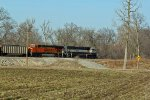 BNSF 9666 Heads Sb With a loaded coal.
