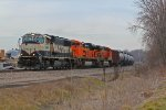 BNSF 9626 Strolls Nb leading a crude oil train.