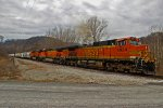 BNSF 4934 Slows For a meet.