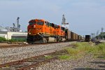 BNSF 6346 Leads a Nb empty coal train.