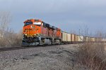 BNSF 5795 Swings the Mp 81 curve.