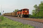 BNSF 9308 Slowly rolls into the siding at Elsberry Mo.