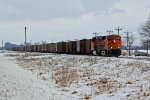 BNSF 6438 Takes a load of coal Sb.