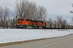 BNSF 5795 Leads a coal load back north.