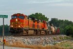 BNSF 5380 Heads up Nb with a mixed freight!!