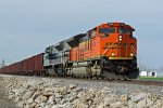 BNSF 9218 Leaves old Monroe with NS 1070.