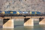 CSX 6051, 7862, 8595 trailing units on westbound train