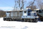 Aggregate Industries GP7 #341 snow covered