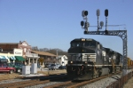NS 153 blasts through town