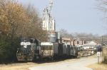 Hartwell RR Trains tied up in town