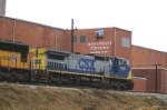 CSX Q194 passing an old mill