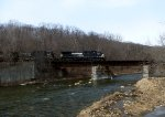 NS 9362 eastbound across the Hoosick River