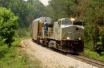 NS 9814 leads CSX freight NB 5/10/2004 northeast of Atlanta.