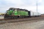 BNSF track measurement train